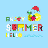Enjoy summer time Royalty Free Stock Images