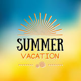 Enjoy The Summer Time logo Template. Vector Typographic Design Label. Holidays lettering.  Tropical party paradise, sea, sunshine Royalty Free Stock Images