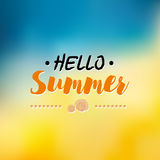 Enjoy The Summer Time logo Template. Vector Typographic Design Label. Holidays lettering. Tropical party paradise, sea, sunshine. Royalty Free Stock Photography
