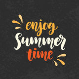 Enjoy summer time phrase Royalty Free Stock Image