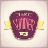 Enjoy summer time retro label Stock Photos