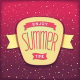 Enjoy summer time retro label Stock Image