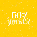 Enjoy summer Royalty Free Stock Image
