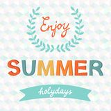Enjoy summer vector typography Stock Photos