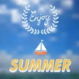 Enjoy summer vector typography Stock Photography