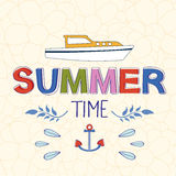 Enjoy summer vector typography Stock Image