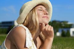 Enjoy the Sun Royalty Free Stock Image