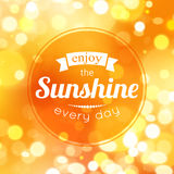 Enjoy the sunshine every day. Shining summer Royalty Free Stock Photos