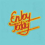 Enjoy today lettering. Vector illustration. Enjoy today lettering, calligraphy. Vector illustration Royalty Free Stock Photography