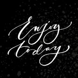 Enjoy today poster Royalty Free Stock Images
