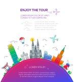 Enjoy the Tour - flat design travel composition Stock Image