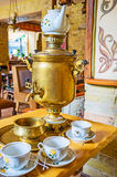 Enjoy traditional Russian tea ceremony Stock Photo