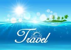 Enjoy Travel poster. Summer vacation banner Stock Image