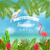 Enjoy Tropical Summer Background Stock Images