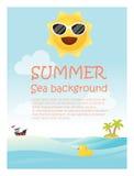 Enjoy tropical summer holiday background Royalty Free Stock Photos