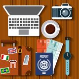 Enjoy vacations travel  icon. Vector illustration design Stock Images