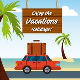 Enjoy vacations travel isolated icon. Vector illustration design Stock Photography