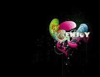 Enjoy vector illustration. Composition over a black background Stock Photo