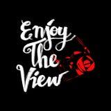 Enjoy the view. Stock Image