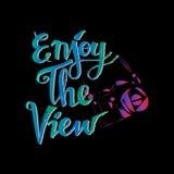 Enjoy the view. Stock Photos