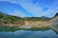 Enjoy view of nature around Beitou Thermal ValleyHell Valley in Yangmingshan mountain. Royalty Free Stock Photography