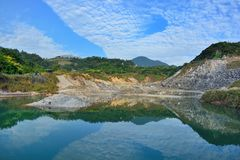 Enjoy view of nature around Beitou Thermal ValleyHell Valley in Yangmingshan mountain. Stock Images