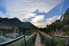 Enjoy view of nature around Beitou Thermal ValleyHell Valley in Yangmingshan mountain. Stock Photography