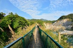 Enjoy view of nature around Beitou Thermal ValleyHell Valley in Yangmingshan mountain. Royalty Free Stock Photos