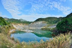 Enjoy view of nature around Beitou Thermal ValleyHell Valley in Yangmingshan mountain. Stock Image