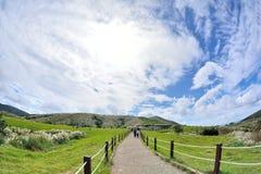 Enjoy view of nature around Qingtiangang Grassland in Yangmingshan mountain. Royalty Free Stock Image