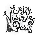 Enjoy visiting paris Stock Images