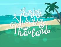 Enjoy visiting Thailand banner Stock Images