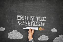Enjoy the weekend concept Royalty Free Stock Photography