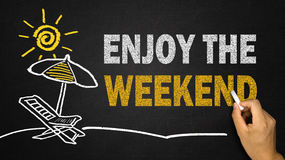 Enjoy the weekend concept Stock Image