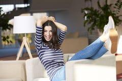 Enjoy weekend at home stock photos