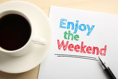 Enjoy the Weekend royalty free stock photo