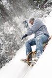 Enjoy winter Stock Image
