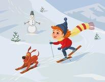 Enjoy winter outdoors Royalty Free Stock Image