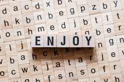 Enjoy word concept royalty free stock image