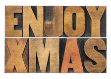 Enjoy xmas (christmas) Stock Photos