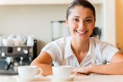 Enjoy your coffee! Stock Photo