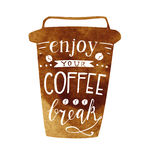 Enjoy your coffee break lettering Royalty Free Stock Image