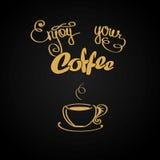 Enjoy your coffee, logo or background Stock Photos