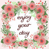Enjoy your day. Inspirational card Stock Images
