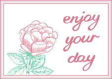 Enjoy your day. Inspirational gentle card with Royalty Free Stock Photo