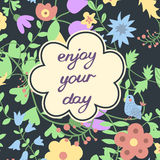 Enjoy your day. Inspirational and motivational Royalty Free Stock Image