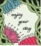 Enjoy your day. Vintage background with ancient Stock Photo