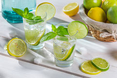 Enjoy your fresh and cold citrus drink Stock Photos