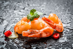 Enjoy your fresh seafood Stock Photography