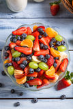 Enjoy your fruit salad Stock Photo